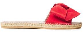 Manebi Bow-embellished Suede Espadrille Slides