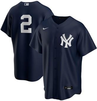 Nike Men's Derek Jeter Navy New York Yankees Alternate Replica Player Jersey