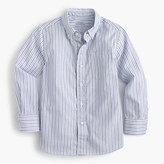 J.Crew Kids' oxford cotton shirt in muted stripe