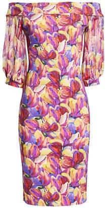 Chiara Boni Elke Floral Off-The-Shoulder Sheath Cocktail Dress