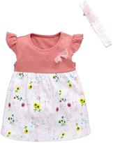 Ladybird Baby Girls Bunny Dress And Headband Set