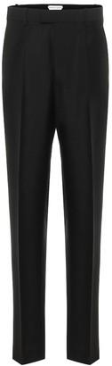 Bottega Veneta High-rise slim mohair-blend pants