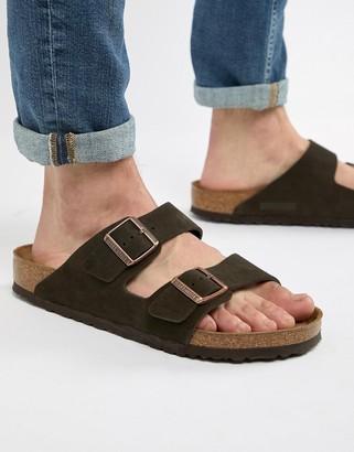 Birkenstock Arizona sandals in mocha suede-Brown