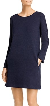 Theory Long-Sleeve Knit Shift Dress