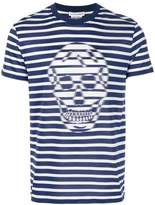 Alexander McQueen striped skull T-shirt