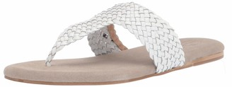 Sbicca Women's James Woven Thong Sandal White
