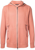 Helmut Lang zipped hoodie - men - Cotton/Spandex/Elastane - S