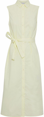 Iris & Ink Noah Cotton-poplin Midi Shirt Dress