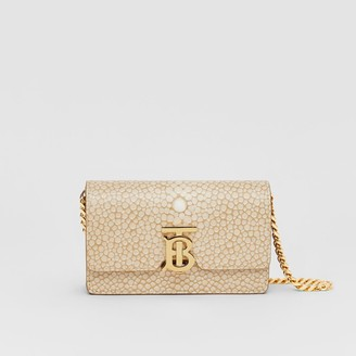 Burberry Mini Fish-scale Print Leather Shoulder Bag