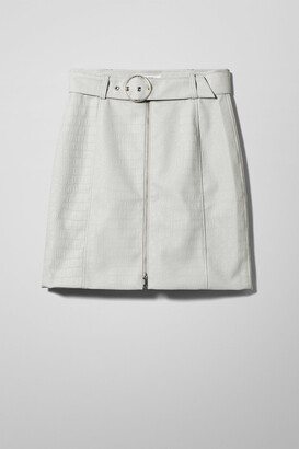 Weekday Zina Belted Skirt - Grey