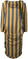 Vivienne Westwood asymmetric striped dress - women - Silk/Viscose - S