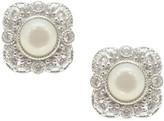 Judith Ripka Sterling Diamonique & Gemstone Stud Earrings