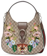 Gucci Medium Dionysus Tiger Gg Supreme Canvas Hobo - None