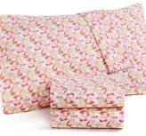Martha Stewart Collection Wild Blossoms Queen 4-pc Sheet Set, 300 Thread Count Cotton Percale