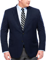 STAFFORD Stafford Yearround Med Blue Boxweave Sport Coat-Big and Tall