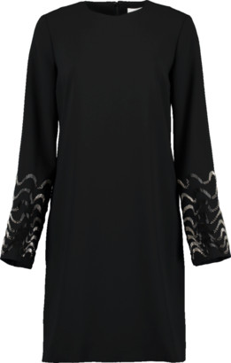 Victoria Victoria Beckham Embellished Sleeve Shift Dress