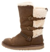 UGG Suede Shearling Mid-Calf Boots
