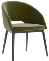 "Walton Upper Squareâ""¢ Leather Guest Chair Upper Squarea Seat Color: Green, Finish: Black"