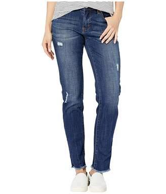 Jag Jeans Carter Girlfriend Crosshatch Denim Jeans