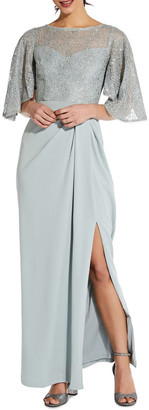 Adrianna Papell Flutter Sleeve Gown