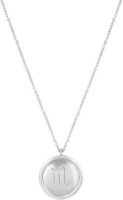 Washed Ashore Zodiac Medallion In Silver Scorpio