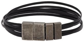 Saint Laurent Black Strip Bracelet