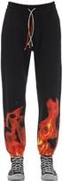 "Ihs ""flames"" Cotton Sweatpants"