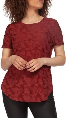 Dex Short Sleeve Jacquard Knit Top