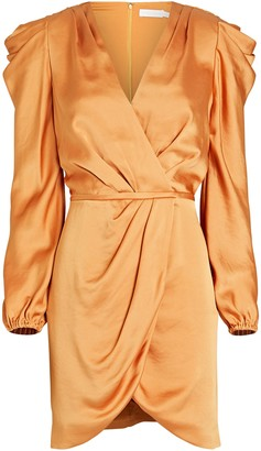 Jonathan Simkhai Jan Ruched Satin Mini Dress