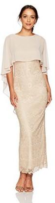Jessica Howard JessicaHoward Women's Petite Long Sleeveless Capelet Sheath Dress
