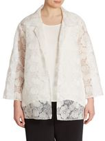 Caroline Rose Morning Glory Embroidered Organza Jacket