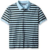 Nautica Men's Big & Tall Striped Polo Shirt