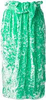 Victoria Beckham belted straight midi skirt - women - Silk/Polyester/Spandex/Elastane/Viscose - 10