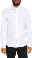HUGO Emero Relaxed Fit Embroidered Button-Up Shirt