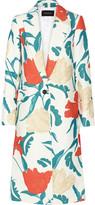 Thakoon Oversized floral-print twill coat