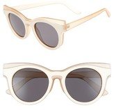 BP Women's 50Mm Two Tone Round Lens Sunglasses - Beige/ White