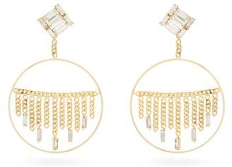 Rosantica Osiride Crystal Drop-hoop Earrings - Crystal