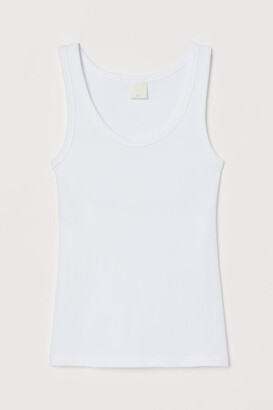 H&M Ribbed Tank Top - White