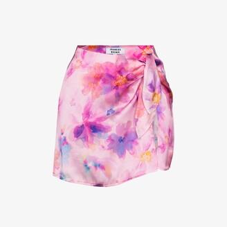 Frankie's Bikinis Dani floral print silk skirt