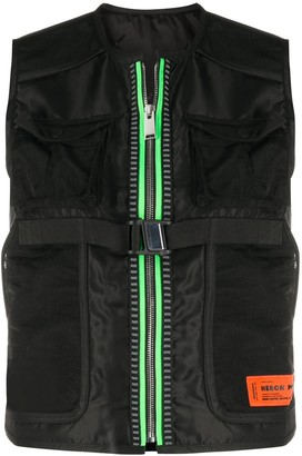 Heron Preston Patch Pocket Cropped Gilet