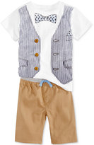 Nannette 2-Pc. Vest Graphic-Print T-Shirt & Shorts Set, Toddler & Little Boys (2T-7)