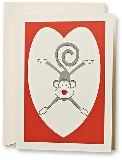 Crane & Co Kissing Monkey Notes, Set of 10