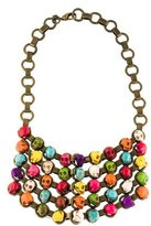 Dannijo Skull Beaded Bib Necklace