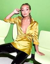 PrettyLittleThing Twist Front Shirt Dress