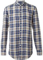 Salvatore Piccolo plaid button down shirt - men - Linen/Flax - 42