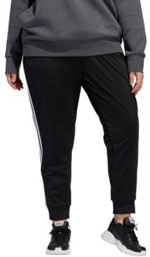 adidas Plus Size Full-Zip Tricot Jogger Pants