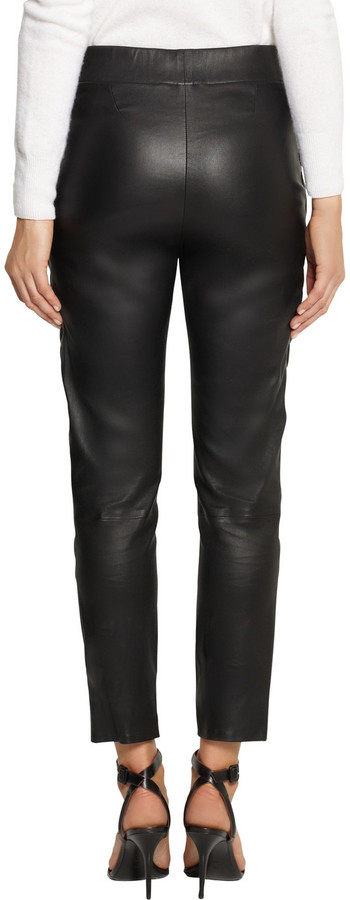 Les Chiffoniers Embossed leather leggings