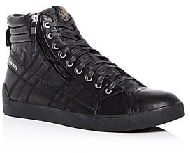 Diesel Men's D-String Plus Leather High-Top Sneakers