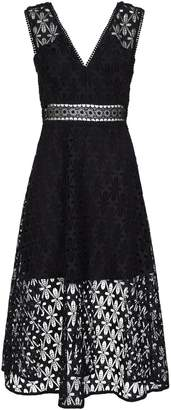 Sandro Floral Lace Midi Dress