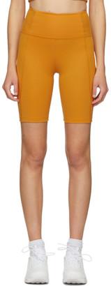 Girlfriend Collective Yellow High-Rise Biker Shorts